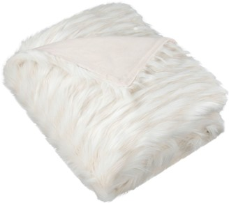Safavieh Luxe Feather Faux Fur Throw