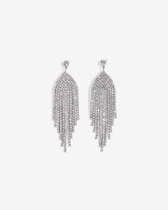 Express Rhinestone Metal Fringe Earrings