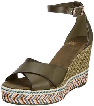 Fred de la Bretonière Women's KEILSANDALE Leder Ankle Strap Sandals, (Black 0004)