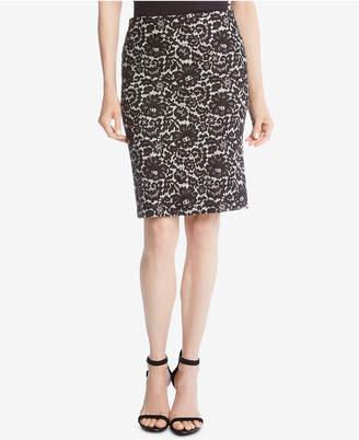 Karen Kane Lace-Print Pencil Skirt