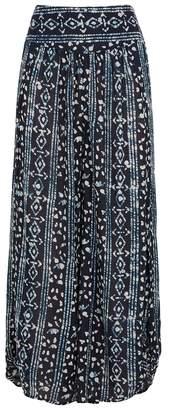 Free People Elena Batik-print Wide-leg Trousers