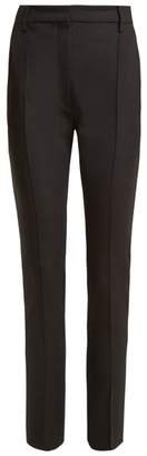Valentino High Rise Wool Blend Trousers - Womens - Black