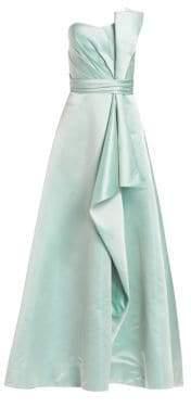 Theia Strapless Duchess Satin Gown
