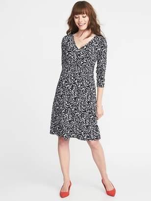 Old Navy Maternity Cross-Front Jersey Waist-Defined Dress