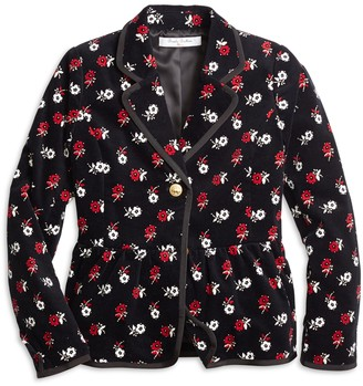 Brooks Brothers Girls Cotton Floral Blazer