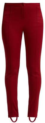 Gucci Technical Jersey Stirrup Leggings - Womens - Dark Red