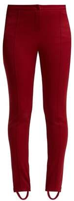 Gucci - Technical Jersey Stirrup Leggings - Womens - Dark Red