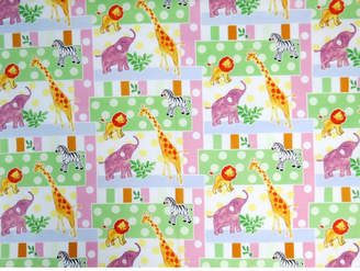 Sheetworld Jungle Animals and Dots Fitted Bassinet Sheet