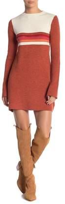 Free People Colorblock Stripe Knit Dress