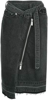Sacai (サカイ) - Sacai asymmetric zipped skirt