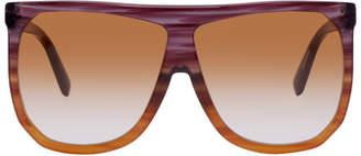 Loewe Purple and Orange Filipa Sunglasses