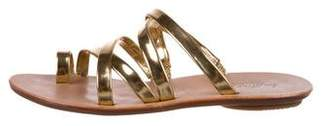 Loeffler Randall Metallic Leather Sandals