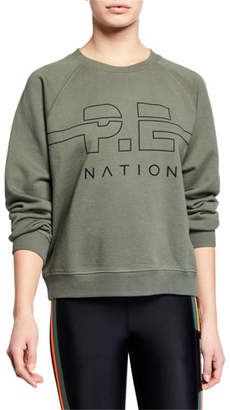 P.E Nation Swingman Raglan Logo Pullover Sweatshirt