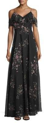 Jenny Yoo Mila Off-Shoulder Dress in Eden Bouquet Print