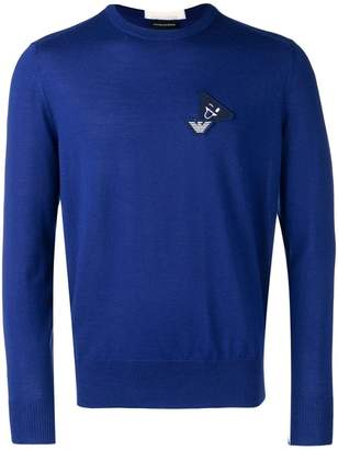 Emporio Armani logo patch jumper