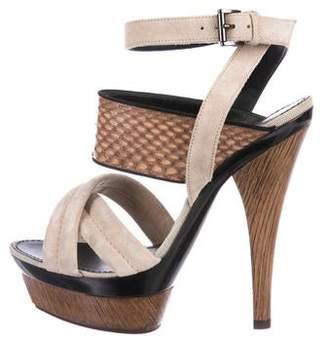 Barbara Bui Suede High-Heel Sandals