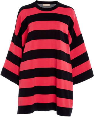 Michael Kors Stripe Tunic Cotton Tee Shirt