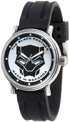 Marvel Black Panther Mens Black Strap Watch-Wma000271