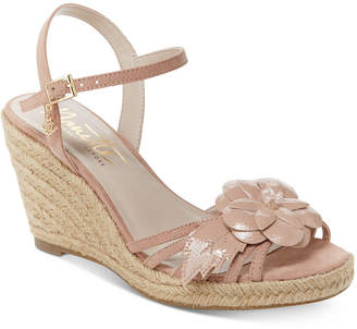 Nanette Lepore Nanette by Quince Floral Wedge Sandals