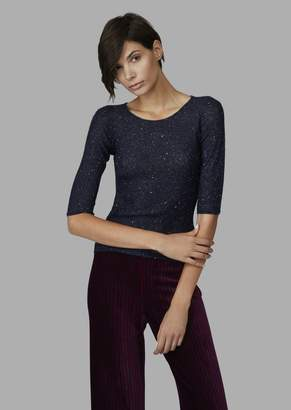 Giorgio Armani Sweater With Sequins And Ribbed Detail