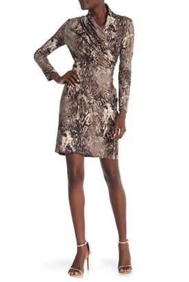 Amelia Surplice Neck Print Dress