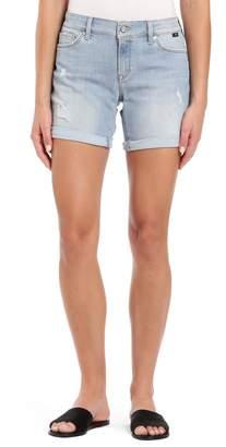 Mavi Jeans Pixie Distressed Cuffed Denim Shorts