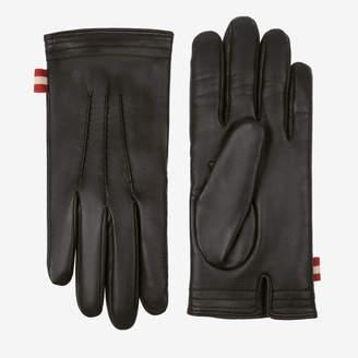 Bally Leather Gloves Black, Men's lamb leather gloves in black