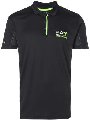Emporio Armani Ea7 logo short-sleeve polo top