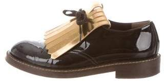 Marni Patent Leather Round-Toe Loafers