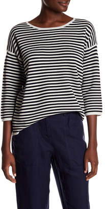 Eileen Fisher Stripe Silk Blend Sweater $298 thestylecure.com