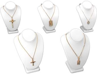 FindingKing 5 Pc Necklace Bust Jewelry Chain Display 6 1/4""