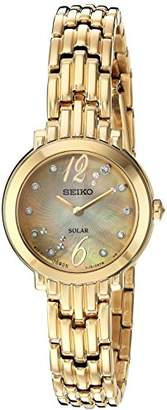 Seiko Women's 'Tressia' Quartz Stainless Steel Casual Watch, Color:Gold-Toned (Model: SUP356) $395 thestylecure.com