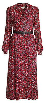 MICHAEL Michael Kors Women's Floral Midi Dress