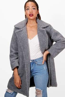 boohoo Savannah Teddy Faux Fur Coat
