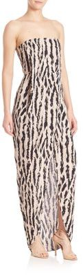 BCBGMAXAZRIA Urban Jungle Jesse Strapless Animal-Print Gown $298 thestylecure.com