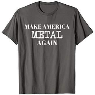 Metal T-Shirt Make America Metal Again Skull Rock T-Shirt