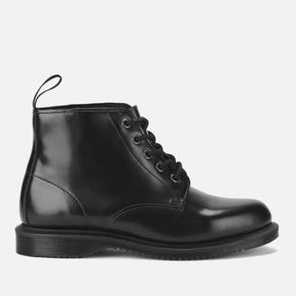 Dr. Martens Women's Emmeline Polished Smooth Leather 5-Eye Boots