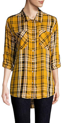 Lord & Taylor DESIGN LAB Striped Button-Front Shirt