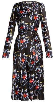 Diane von Furstenberg Tilly Lanell Print Silk Wrap Dress - Womens - Black Print