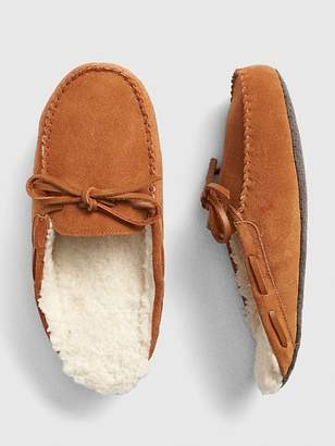 Gap Suede Moccasin Slide Slippers