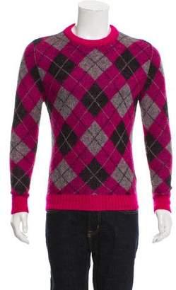 Saint Laurent 2014 Mohair Argyle Sweater