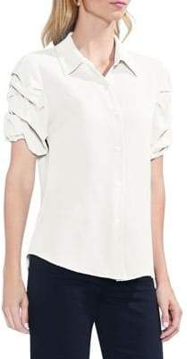 Vince Camuto Sapphire Bloom Button-Down Shirt