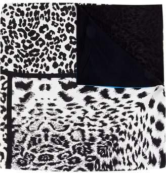 Pierre Louis Mascia Pierre-Louis Mascia panelled leopard print scarf