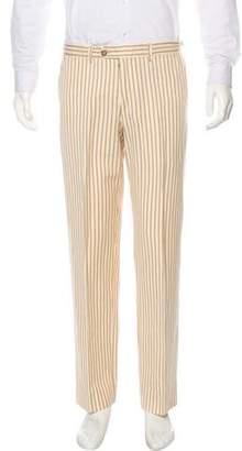 Etro Striped Linen-Blend Pants