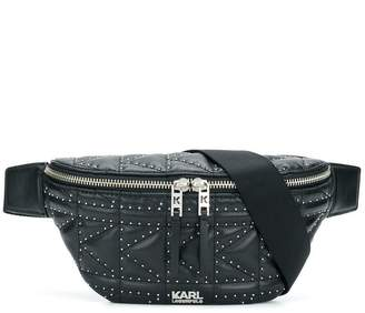 Karl Lagerfeld Studs quilted belt bag