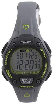 Timex Women's TW5M14000 Ironman Classic 30 Mid-Size Gray/Lime Resin Strap Watch