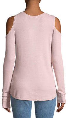 Sanctuary Bowery Thermal Cold-Shoulder Tee
