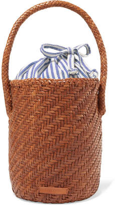 Loeffler Randall Cleo Woven Leather Bucket Bag - Tan