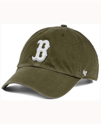 '47 Boston Red Sox Olive White Clean Up Cap