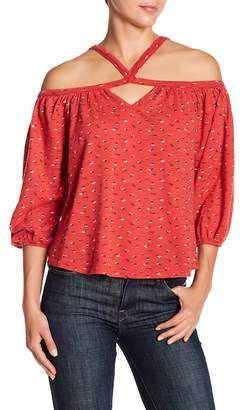 Lucky Brand Off-the-Shoudler Ditsy Floral Blouse